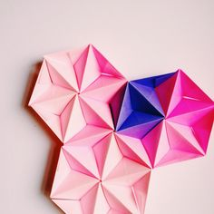 Sonobe unit origami improvisation by Coco Sato