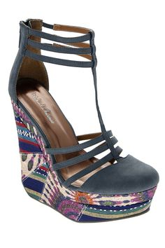 Michael Antonio Getty Sandal In Blue Multicolor