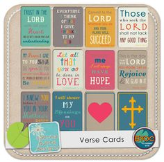 Verse Cards - need to do something like this with the King James Version.