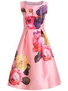 ärmelloses Glockenkleid mit Blumenmuster 23.92