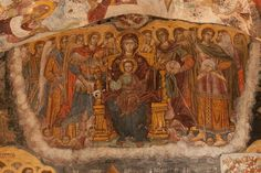 Fresco: Madonna and Child, Sumela Monastery, Trabazon, Turkey  Endless images adorn the interior main chapel area of Sumela. Where to look? So many marvellous images.