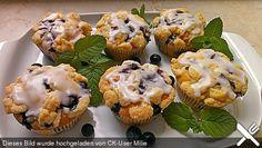 Blaubeer - Muffins mit Streuseln