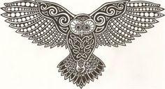 Celtic Owl Celtic Symbols, Celtic Art, Celtic Knots, Mayan Symbols, Celtic Dragon, Egyptian Symbols, Ancient Symbols, Celtic Patterns, Celtic Designs