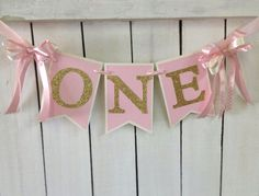 pink and gold birthday high chair banner pink and gold birthday party ballerina birthday ballerina party princess party 1st birthday couture by MerryMakersPapier on Etsy https://www.etsy.com/listing/223062403/pink-and-gold-birthday-high-chair-banner