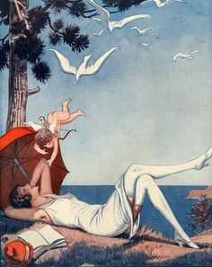Illustration by George Pavis, for La Vie Parisienne, 1920s