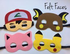 Pokemon Party Masks, Pokemon Party Favors, Pokemon Party Ideas