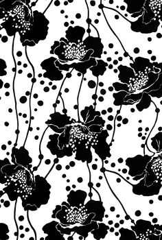 316 best flower white still life images on pinterest flower signature prints florence broadhurst spotted floral black and white mightylinksfo