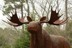 moose iron sculpture, Chris Williams Chris Williams, Sculpture Ideas, Metal Art, Moose, Fairy, Iron, Ceramics, Cool Stuff, Animals