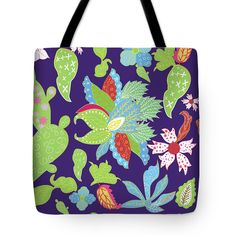 Exotic Ornament Tote Bag by Marina Usmanskaya #MarinaUsmanskayaDigitalArt #Exotic #Floral #ArtPrints    The tote bag is machine washable, available in three different sizes, and includes a black strap for easy carrying on your shoulder.  All totes are available for worldwide shipping and include a money-back guarantee.