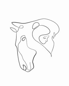 Calligraphy-Inspired One Line Artist & Illustrator One Line Tattoo, Line Tattoos, Small Tattoos, Horse Drawings, Art Drawings, Tattoo Silhouette, Horse Tattoo Design, Horse Tattoos, Tattoos Skull