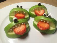 Bijtende appels. Zelf maken? Lees op katiajacobs.wordpress.com hoe je dit doet. #noenie #lunch #gezond #kids