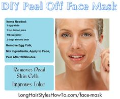 DIY Citrus Peel Off Face Mask