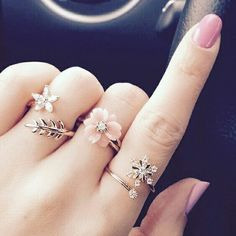 rings, nails, and pink image