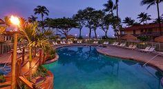 Oceanfront Pool at Twilight, Aston Maui Kaanapali Villas