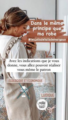 Tuto Margotte : la salopette robe multi saison ! Women's Overalls, Easy Dress, Patron Robe