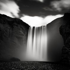 LOVE the translucent quality of the waterfall - Josef Hoflehner - Liquid Wall, Iceland 2005 #photo #photography