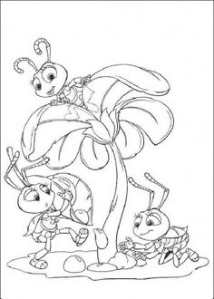 Bugs life coloring page 6
