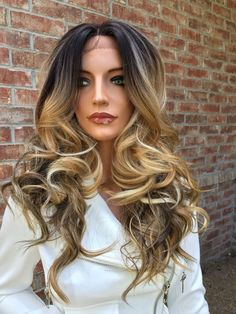 """20"""" front lace custom mixed blond balayage color"""