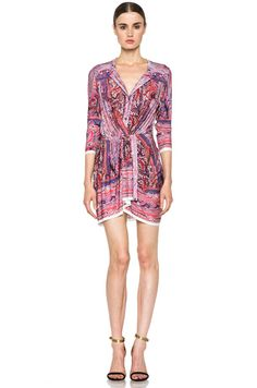 Isabel Marant Maryloe Mankolam Dress in Pink Floral Abstract Purple