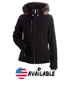 B0741D4T84 : Nils Womens Kassandra Petite Faux Fur Chinchilla Jacket (Black / 6). Waterproof. Regular Fit. Midweight Insulation. Hip Length. Removable Hood #Apparel #SPORTING_GOODS