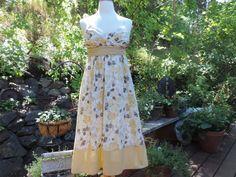 Vintage Dress Sun Dress Floral Print Polka Dot 80's Lined