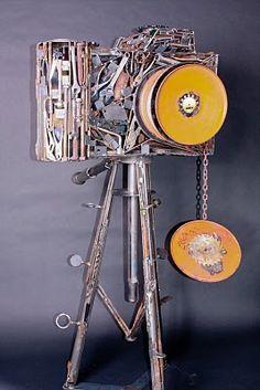 Metal camera by Deveren B. Farley: Art Around the Corner 2011.