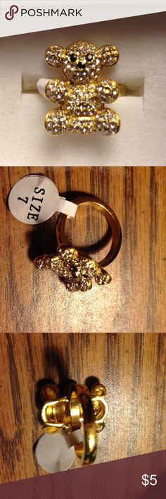 Teddy Ring Gold Tone Teddy Jewelry Rings