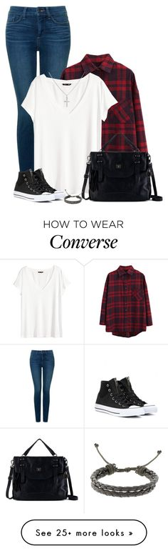 """Yesterday was fun!"" by mrs-soudaphone-styles on Polyvore featuring NYDJ, WithChic, H&M, Converse, The Sak and Sterling Essentials"