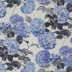 cassandra - cobalt fabric | Designers Guild