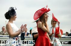 2016 Investec Epsom Derby Festival - Investec Ladies Day - Epsom Racecourse - Images - Press Association Furlong Fashion Racing Style Fashion At The Races Royal Ascot Ladies Day, Epsom Derby, Sports Pictures, Race Day, Surrey, Fascinator, Fashion Fashion, Womens Fashion