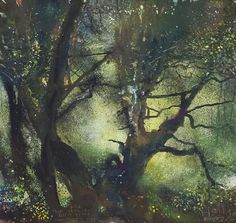 Kurt Jackson, Tree Gwedhen: Landscape Art, Landscape Paintings, Kurt Jackson, St Just, Watercolor Trees, Watercolour, Collage Art Mixed Media, Large Painting, Tree Art