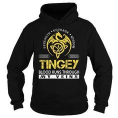 Awesome Tee TINGEY Blood Runs Through My Veins (Dragon) - Last Name, Surname T-Shirt T-Shirts