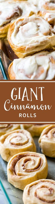 The Rise Of Private Label Brands In The Retail Meals Current Market Learn How To Make Big Giant Cinnamon Rolls- - Almost Double The Size Of Your Typical And Covered With Cream Cheese Frosting Recipe On Brunch Recipes, Breakfast Recipes, Dessert Recipes, Breakfast Ideas, Baking Desserts, Breakfast Time, Pastry Recipes, Cooking Recipes, Bread Recipes
