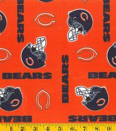 Chicago Bears NFL Orange Cotton