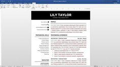 Modern Resume Template Simple Resume Template Classic Resume