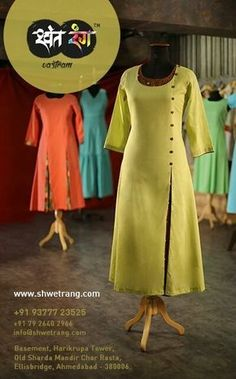 Kurtis has become a very integral outfit it Indian fashion industry. From parties to casual wear for your work every day, Kurtis has become a big fashion statement. The ease of collaborating bright hues with Salwar Pattern, Kurta Patterns, Dress Patterns, Indian Suits, Indian Dresses, Indian Wear, Kurti Styles, Churidar Designs, Kirara