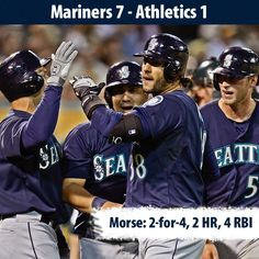 The Beast strikes twice as #Mariners defeat #Athletics 7-1. 4/2/13