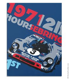 2f130cdc182 12h Sebring 1971 Mini Canvas Print Martini Racing