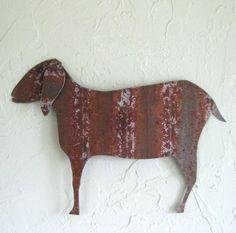 Folk art decor goat barn yard animals billy by TheFrivolousGarden, $65.00