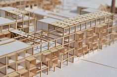 """The thesis deals with the creation of student residences for the University of Thessaly in space of """" A. Architecture Model Making, Concept Architecture, Interior Architecture, Arch Model, Social Housing, Affordable Housing, Master Plan, Sustainable Architecture, Urban Design"""