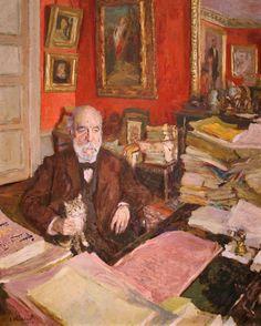 Théodore Duret, 1912 - Edouard Vuillard, oil on cardboard on wood