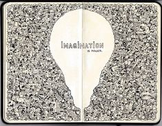 I like how the negative space is more complex than the object (lightbulb) itself. Shows how imagination expands