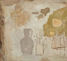 Carafe and Mug, oil on canvas, by Mary Potter OBE at Thompson's Gallery Creepy Drawings, Art Drawings, Rose Wylie, Monster Sketch, Watch Drawing, Paintings I Love, Painting Styles, Illustration Sketches, Horror Art