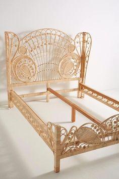 40 Modern Bed Frame Design Ideas Made Of Rattan - JustHomeIdeas Cane Furniture, Rattan Furniture, Furniture Design, Furniture Stores, Furniture Online, Cheap Furniture, Luxury Furniture, Office Furniture, Decoration Inspiration