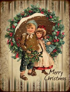 Free Digital Vintage Christmas Images by JanetK. Vintage Christmas Images, Christmas Scenes, Christmas Past, Victorian Christmas, Vintage Holiday, Christmas Pictures, Christmas Greetings, Christmas Crafts, Christmas Decorations