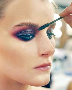 Beautiful! deep purple smoky eyes from Chanel 2009 #makeup #smoky eyes