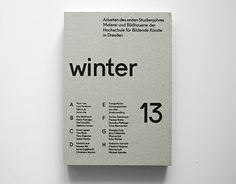 A catalogue showing the works from art students of dresden.