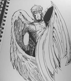 Repost Vincentkinblue Xmen Angle Xmenangel Sketch Drawing