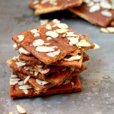 spiced caramelized graham crackers