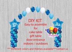 Blues Clues Birthday Balloon Arch Columns, Cake Table, Gift Table, DIY KIT Party Mylar Balloons, Baby Shower Balloons, Balloon Arch, Latex Balloons, Graduation Balloons, Wedding Balloons, Birthday Balloons, Blues Clues, Birthday Party Centerpieces